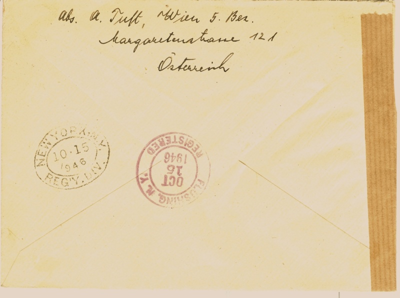 Postgebühren Flugpost Österreich 1946 Brief_11