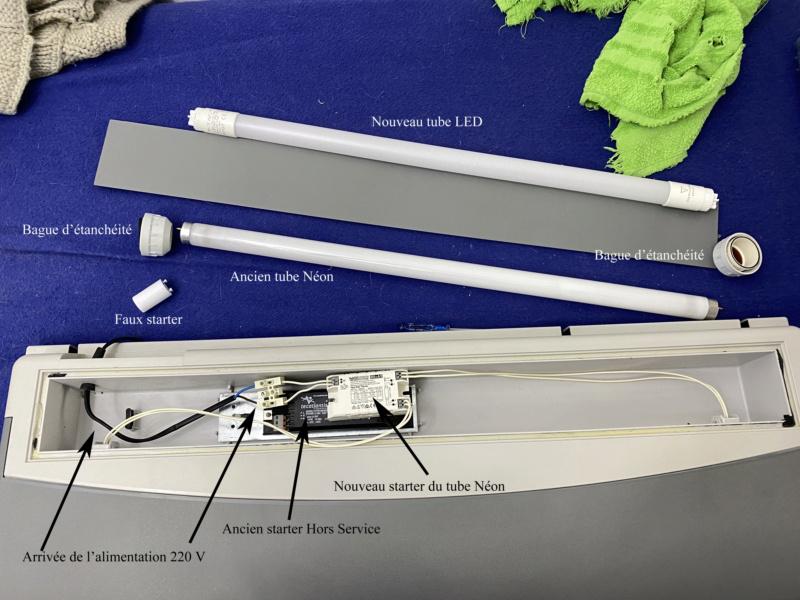 Changement tube néon T8 18W Aquatlantis par équivalent LED pour 5 euros maxi Ancien10