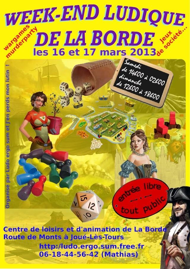 w-e ludique de la Borde 2013 (joué les tours 37) Affich10