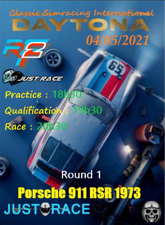 Challenge Porsche 911 RSR 1973. Dayton10