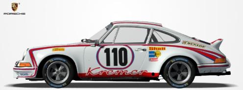 Challenge Porsche 911 RSR 1973. P710