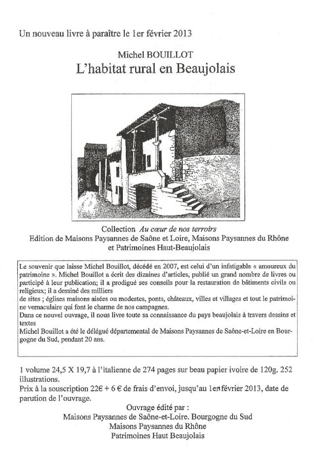 Michel BOUILLOT : L'habitat rural en Beaujolais Beaujo10