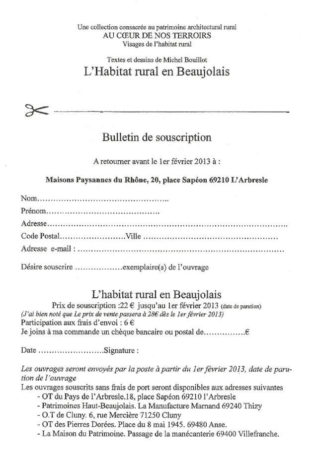 Michel BOUILLOT : L'habitat rural en Beaujolais Beaujo12