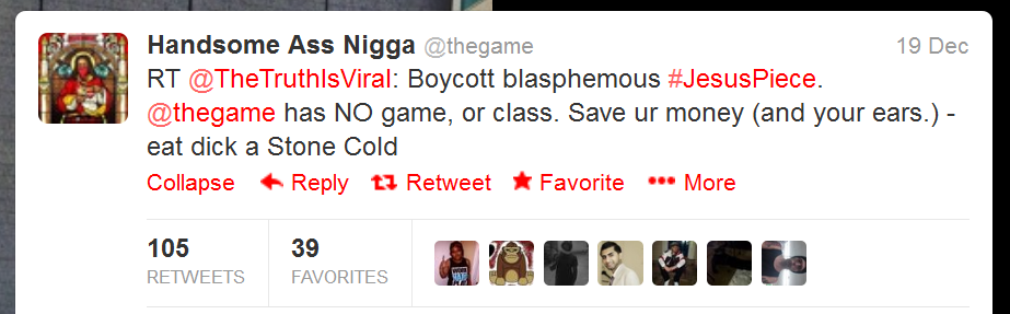 """Twitter Followers Of Rapper """"The Game"""" Threaten TTiV Host And His Wife With Murder And Rape Game_s10"""