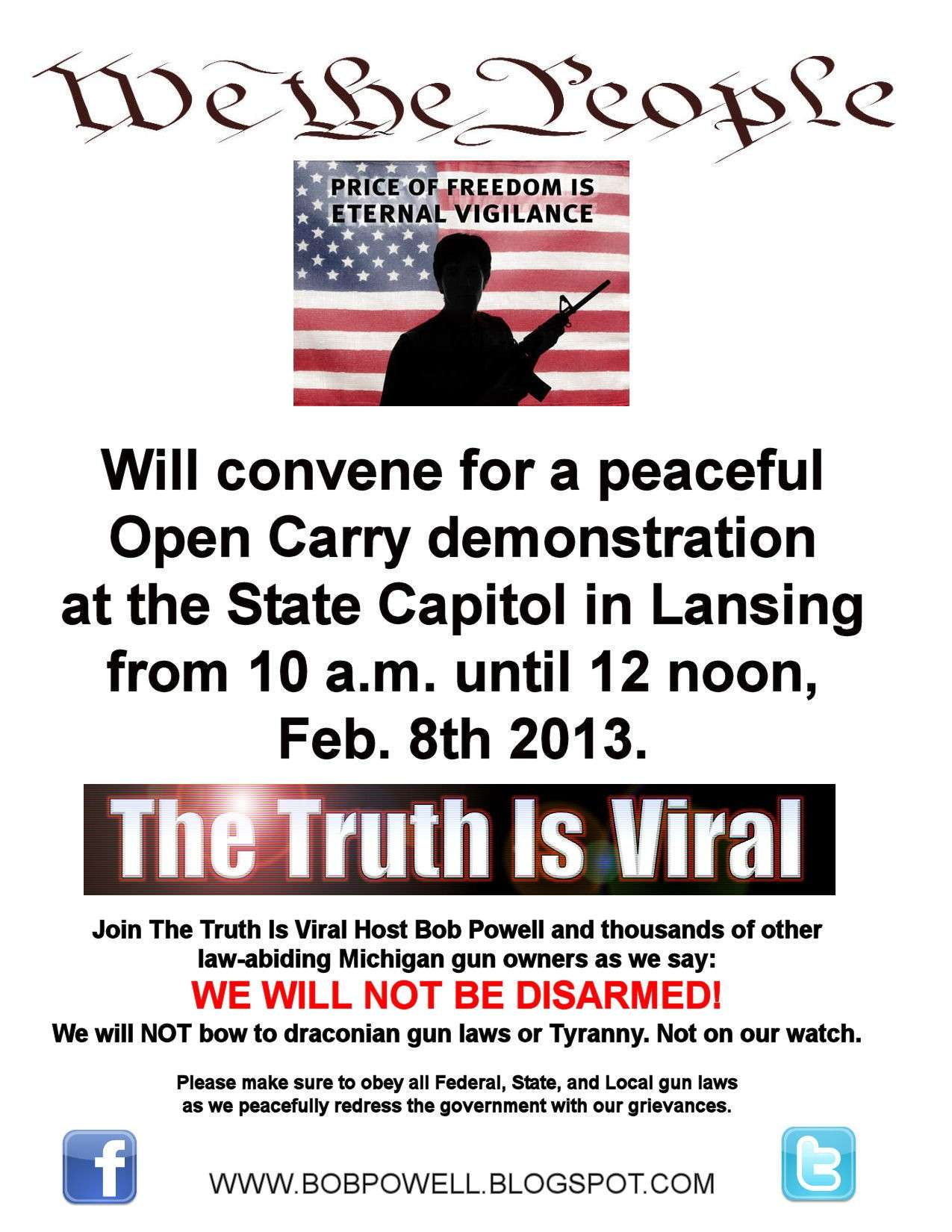 Peaceful Demonstration At Every State Capital For Our 2nd Amendment Rights Pro_2a13