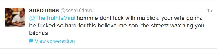 """Twitter Followers Of Rapper """"The Game"""" Threaten TTiV Host And His Wife With Murder And Rape Rape_t11"""