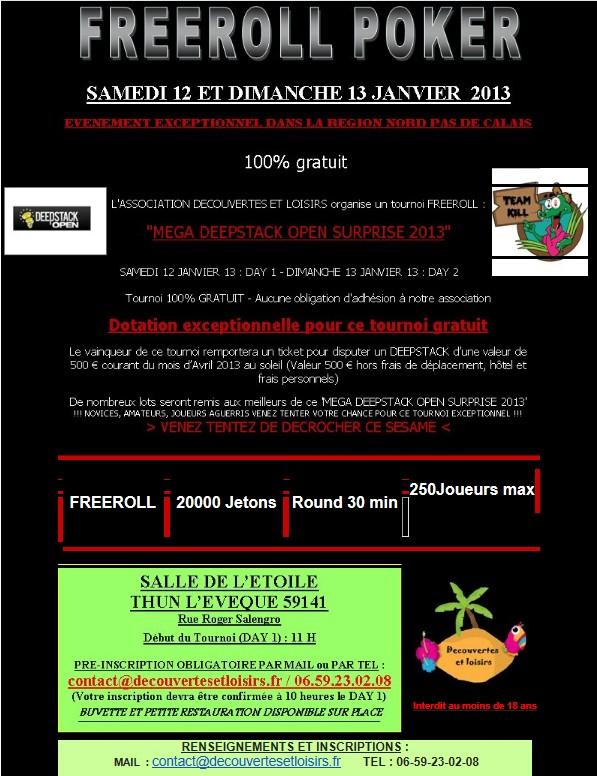 Freeroll Thun L'Eveque - 250 joueurs - 12 & 13 janvier 2013 Freero10