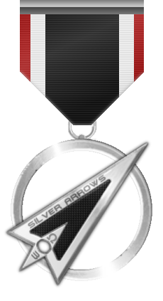 Silver Arrows Lifetime Medal - This medal is awarded to a member who made a true impact on the community by its work and participation.