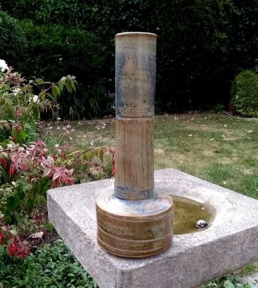 Tall necked stoneware vase A13