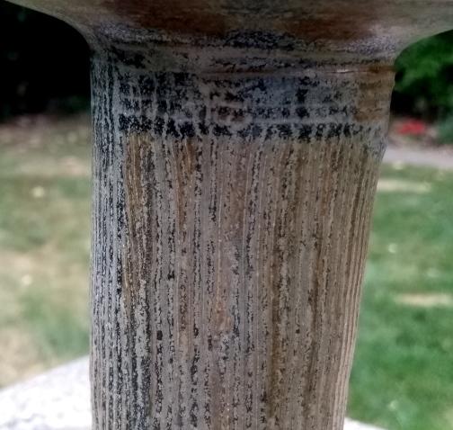 Tall necked stoneware vase C15