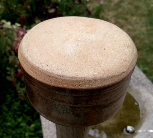 Tall necked stoneware vase E13