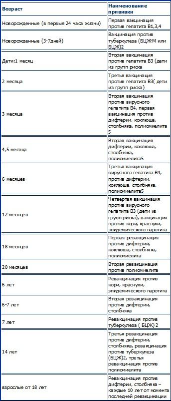 Календарь прививок Ddudnd11