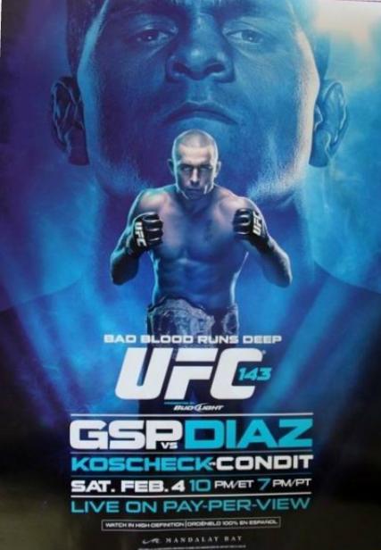 UFC 158 poster = UFC 143 Poster Nick_v10