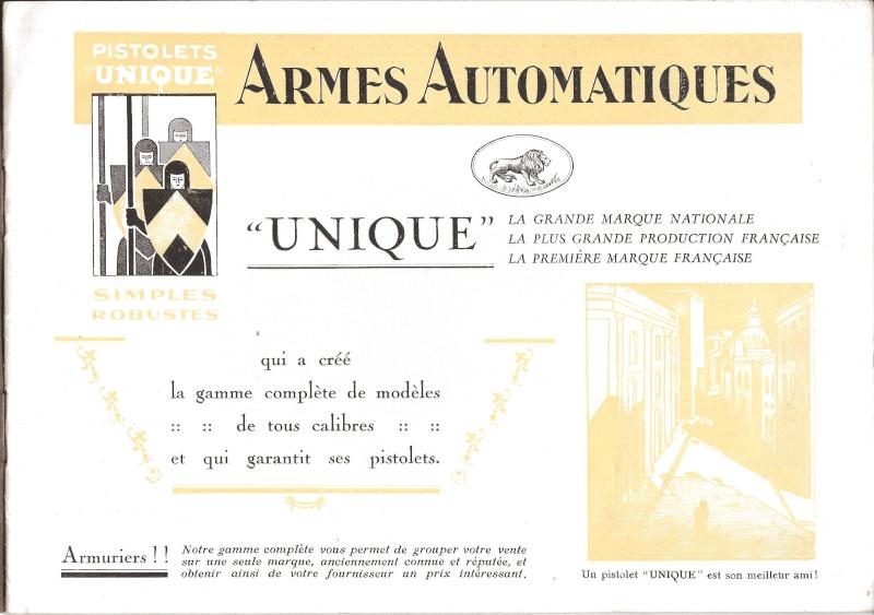 Catalogue UNIQUE, 1930s 19310013