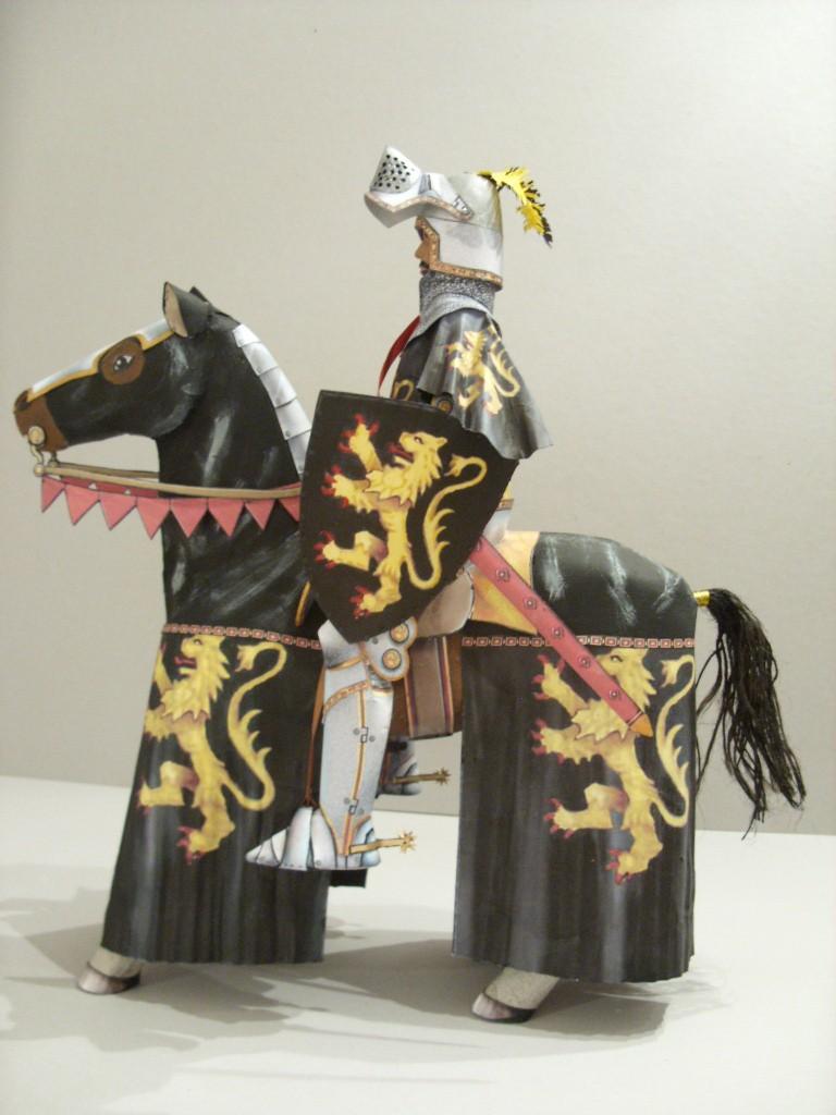 Ritt Auf Einem Schwarzen Pferd