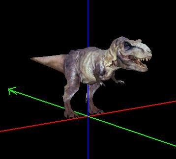 Jurassic Park Animatronic T-rex skin 2002-026