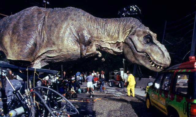 Jurassic Park Animatronic T-rex skin Jurass10