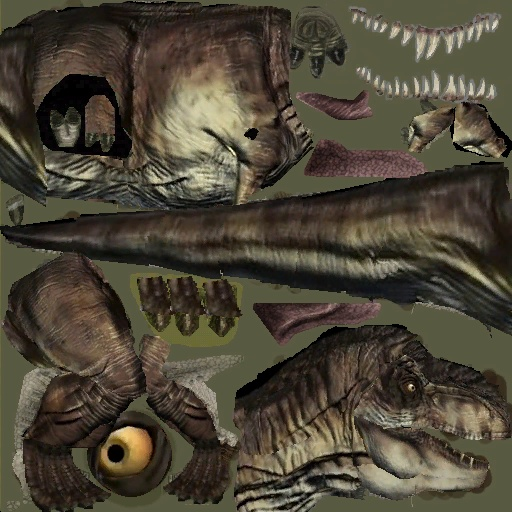 Jurassic Park The Game Trex skin v.2 Trex-310