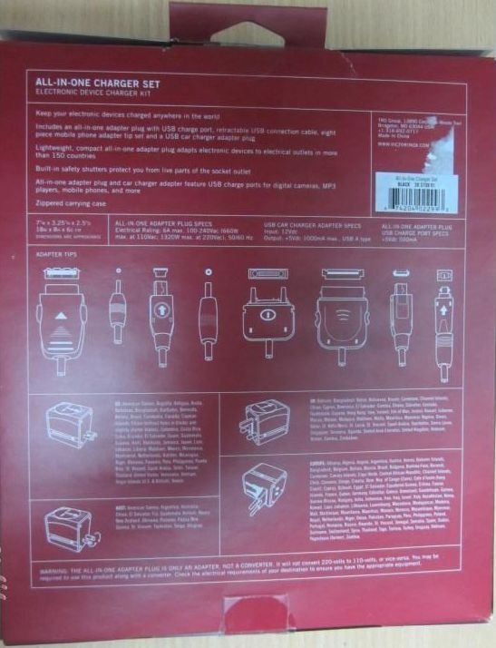 SOLD! Victorinox All in One Charger Set Brand New 04512112