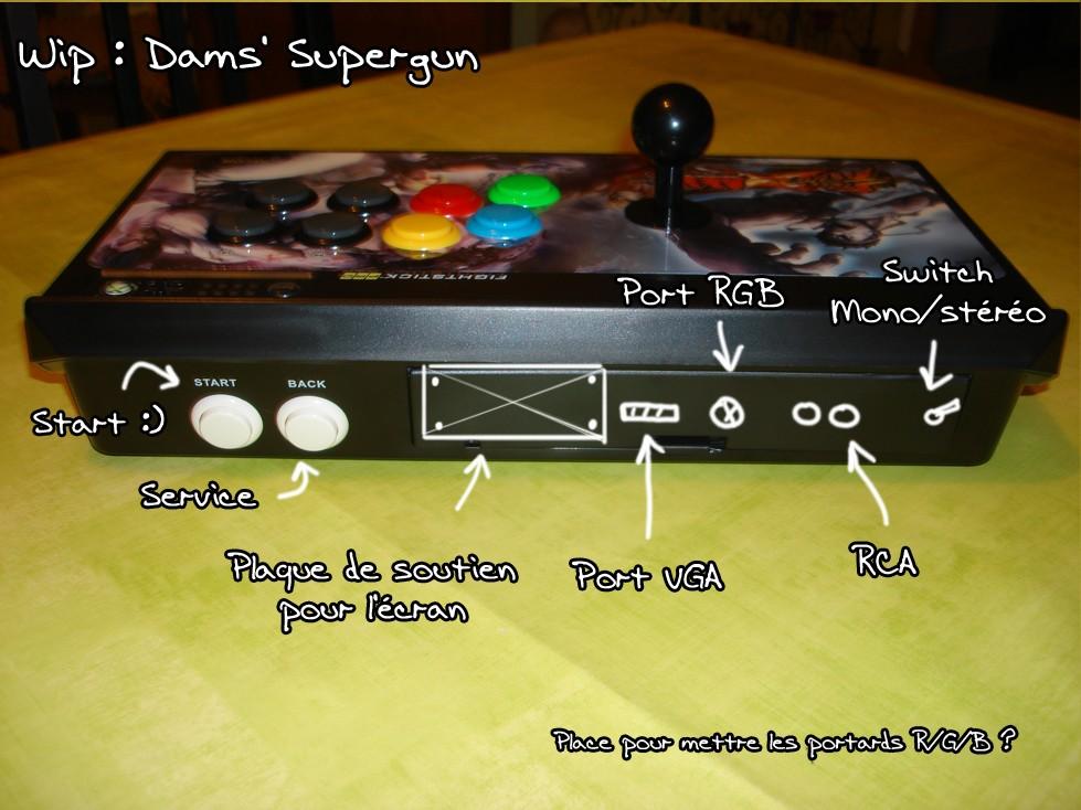 [WIP] Projet supergun écran intégré Superg13