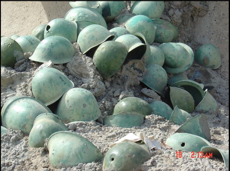 Des souvenirs du terrain ramenés d'Irak 1210