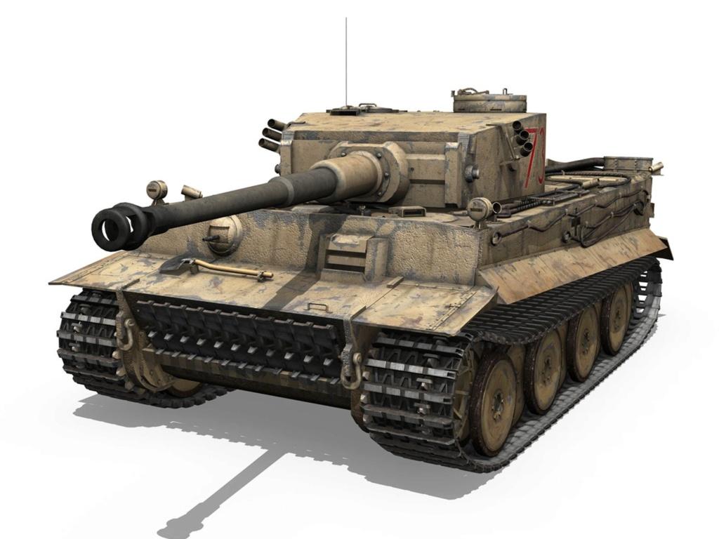 Un félin dans le sable : Tigre I Tamiya 1/48eme (fini) - Page 2 Panzer10