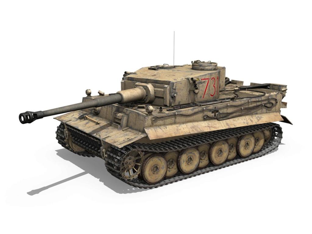 Un félin dans le sable : Tigre I Tamiya 1/48eme (fini) - Page 2 Panzer11