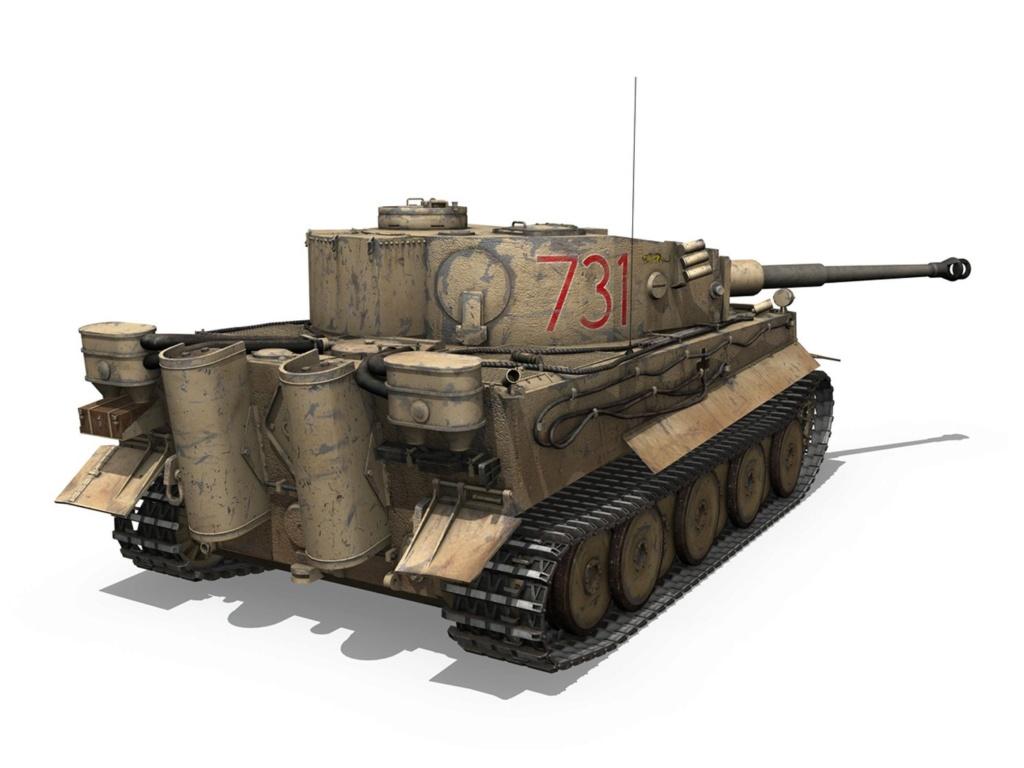 Un félin dans le sable : Tigre I Tamiya 1/48eme - Page 2 Panzer12