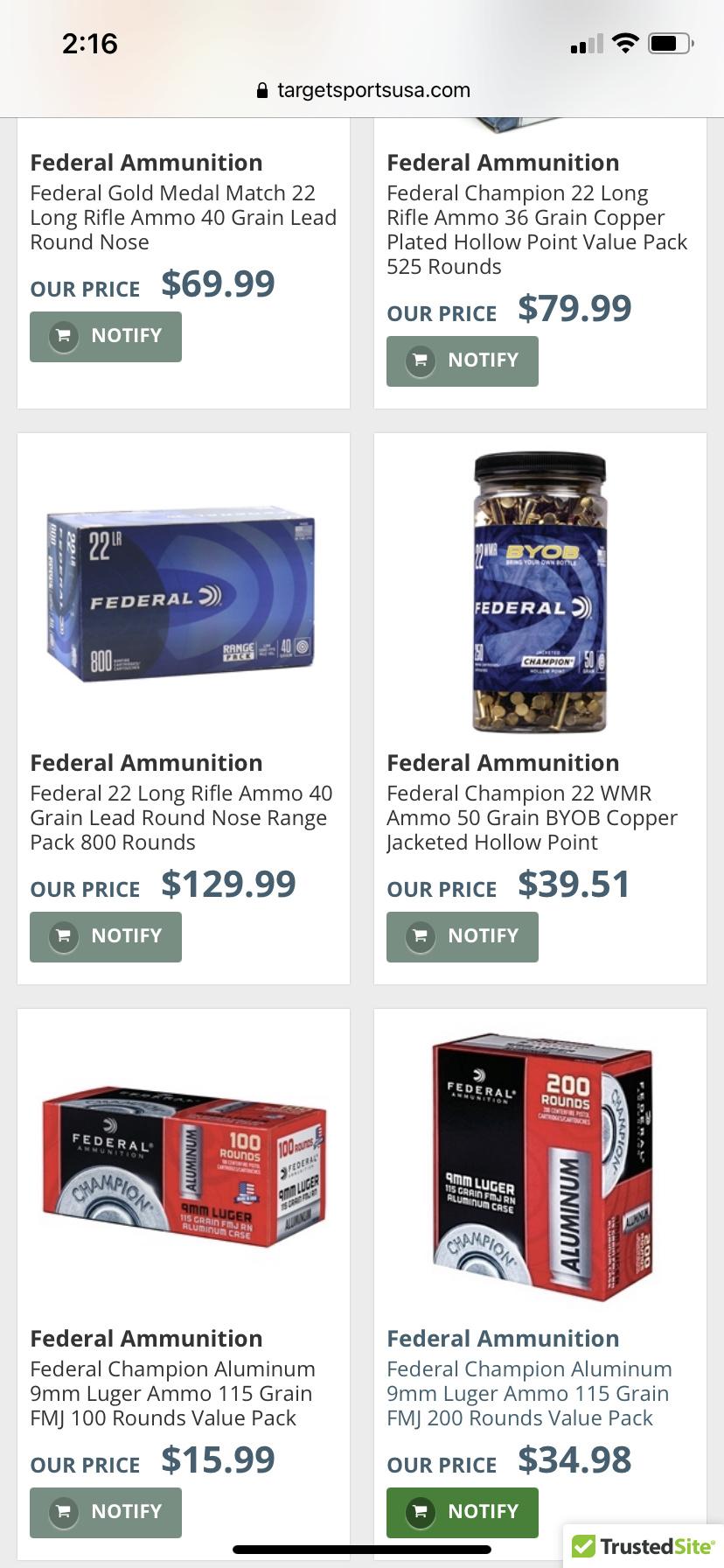 Federal 22 - 800 packs In Stock Alert  C8feb210