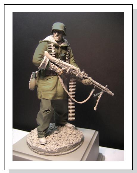 WWII - Figurine 1/16 - Mitrailleur Allemand 2e guerre mondiale - Terminé Produc10
