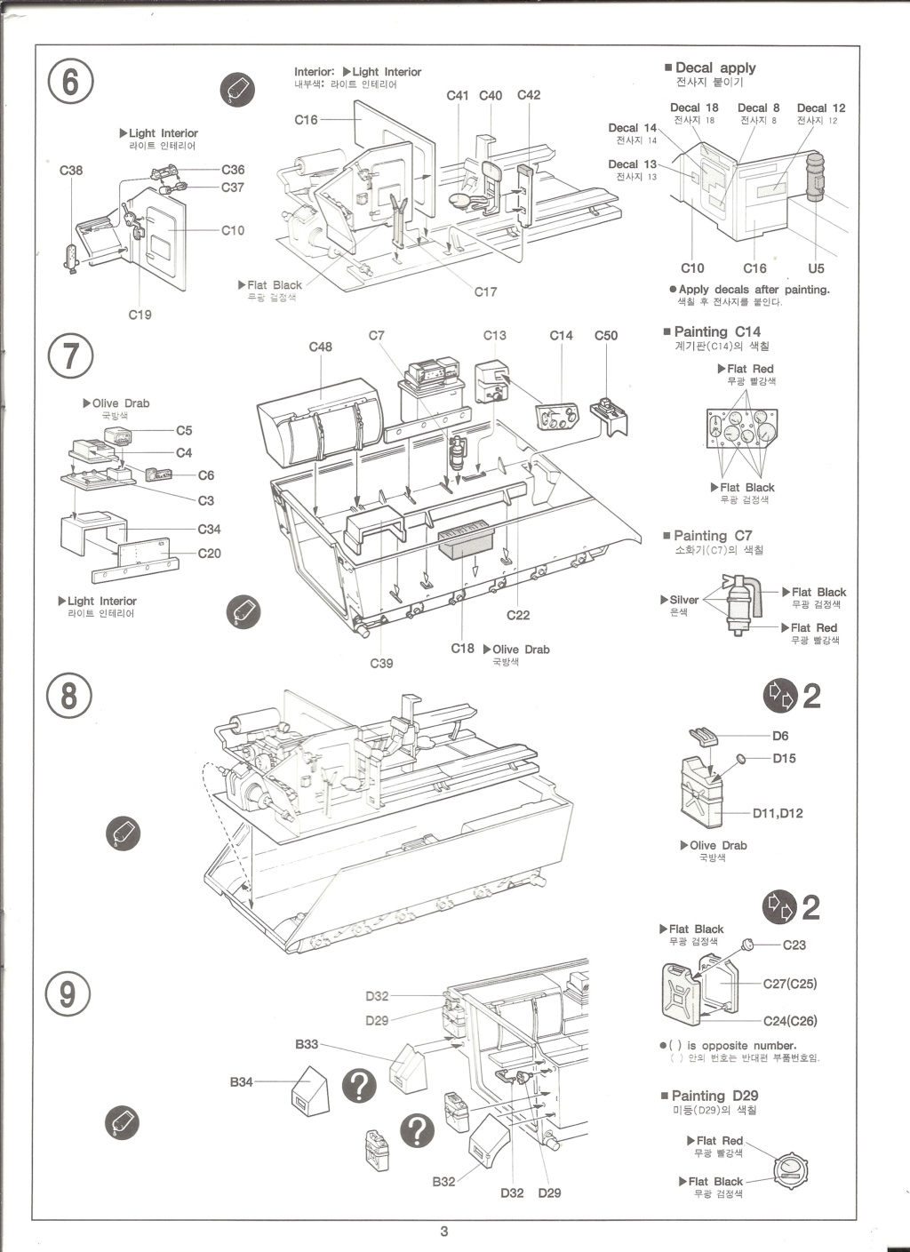 [ACADEMY]  M113A1 Guerre du VIETNAM 1/35ème Réf 1389 Notice Academ29