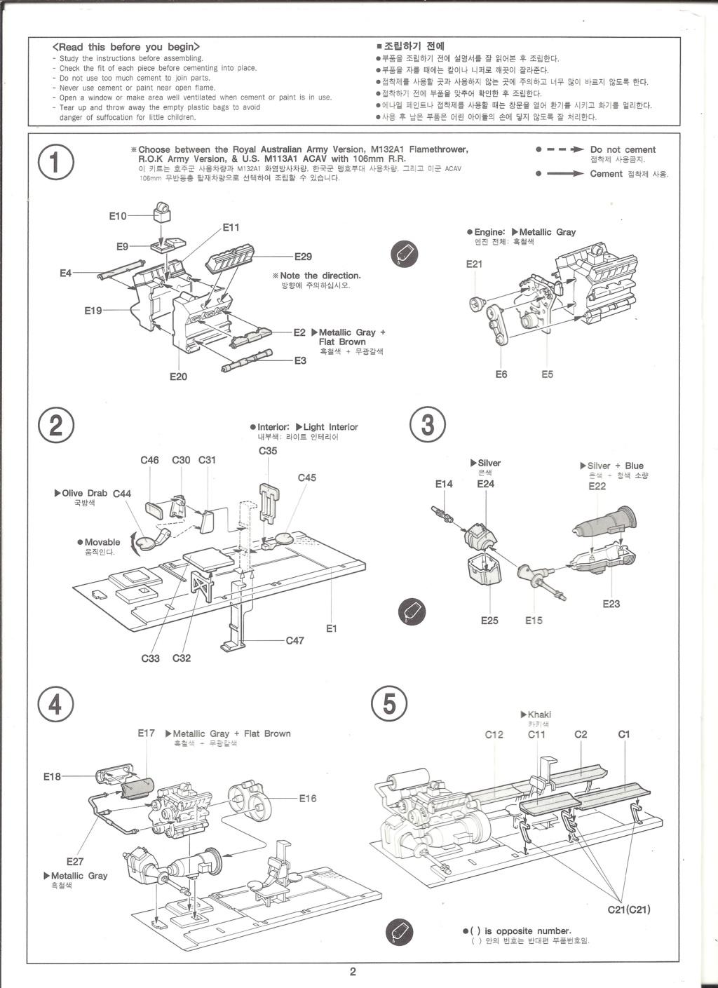 [ACADEMY]  M113A1 Guerre du VIETNAM 1/35ème Réf 1389 Notice Academ30