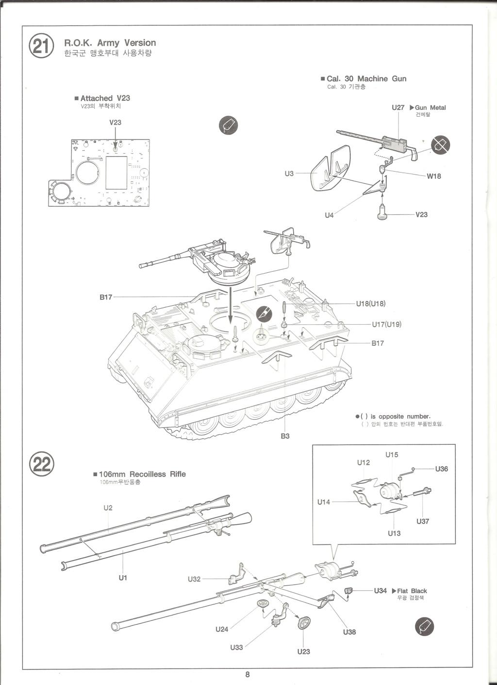 [ACADEMY]  M113A1 Guerre du VIETNAM 1/35ème Réf 1389 Notice Academ35
