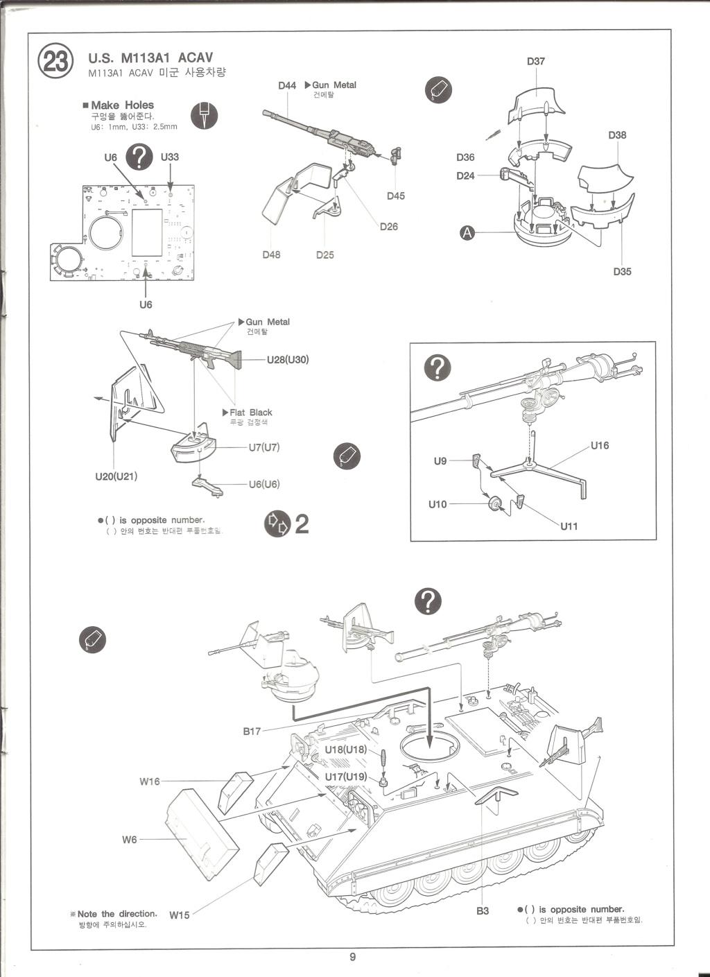 [ACADEMY]  M113A1 Guerre du VIETNAM 1/35ème Réf 1389 Notice Academ36