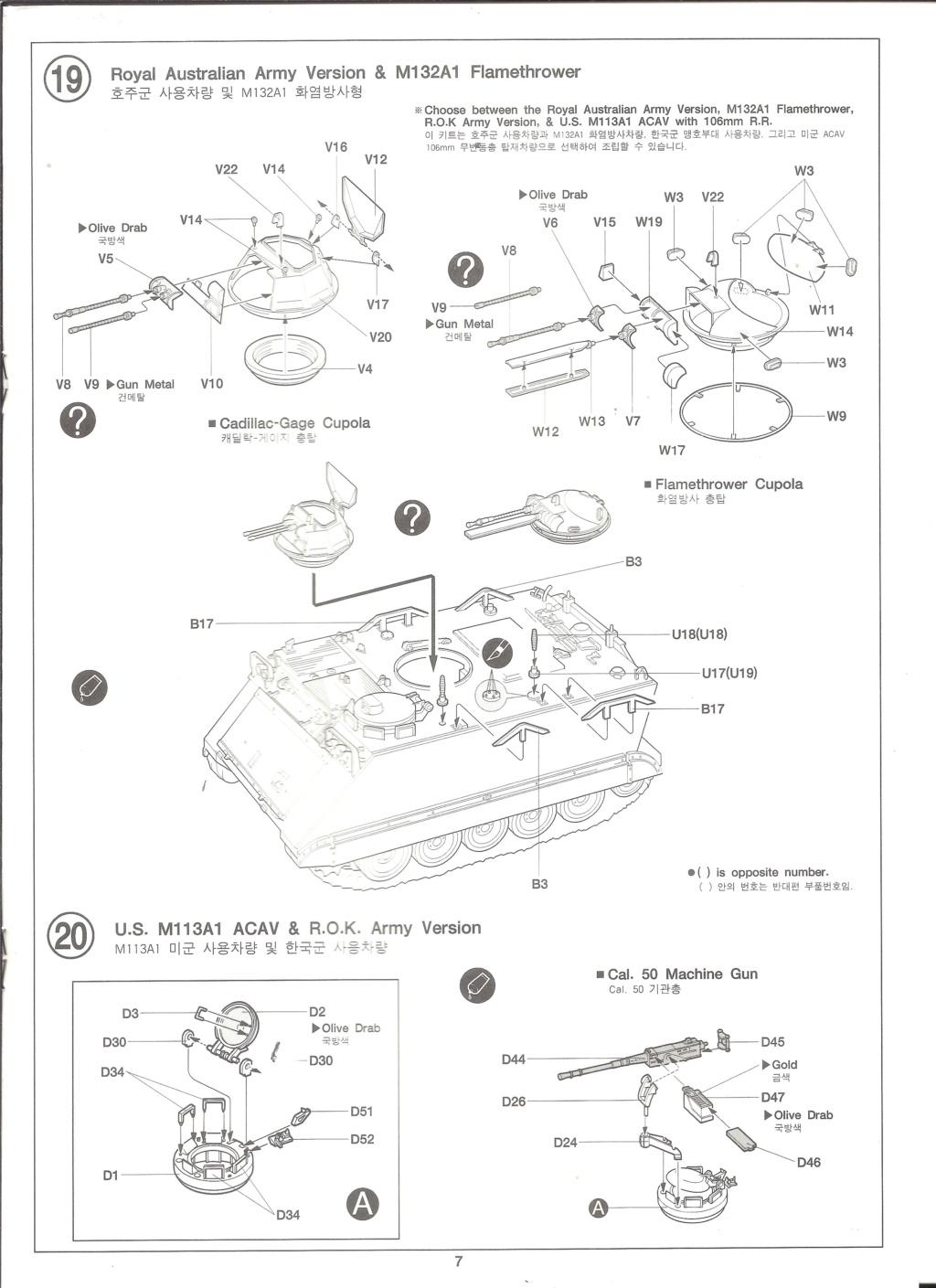 [ACADEMY]  M113A1 Guerre du VIETNAM 1/35ème Réf 1389 Notice Academ37