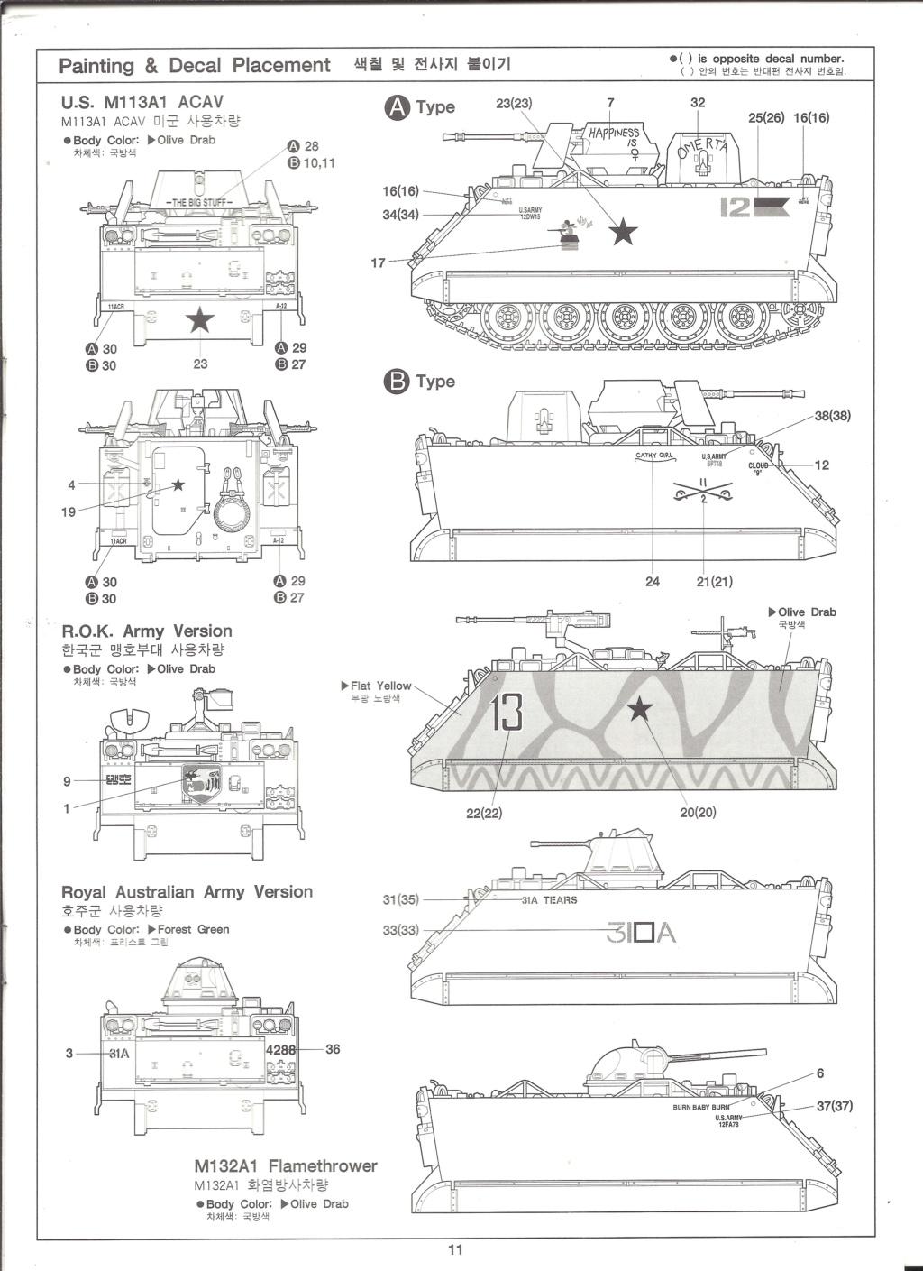 [ACADEMY]  M113A1 Guerre du VIETNAM 1/35ème Réf 1389 Notice Academ39