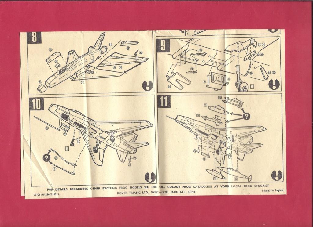 [FROG] NORTH AMERICAN F 100D 1/72ème Réf F280 Notice Frog_n12