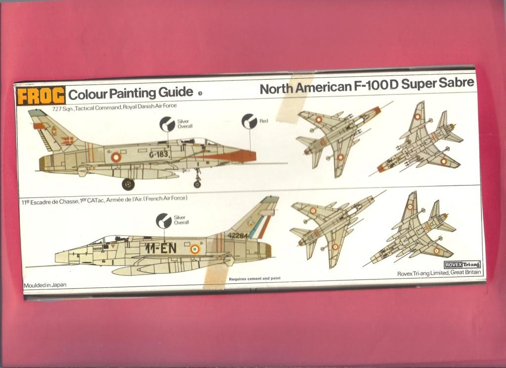 [FROG] NORTH AMERICAN F 100D 1/72ème Réf F280 Notice Frog_n15