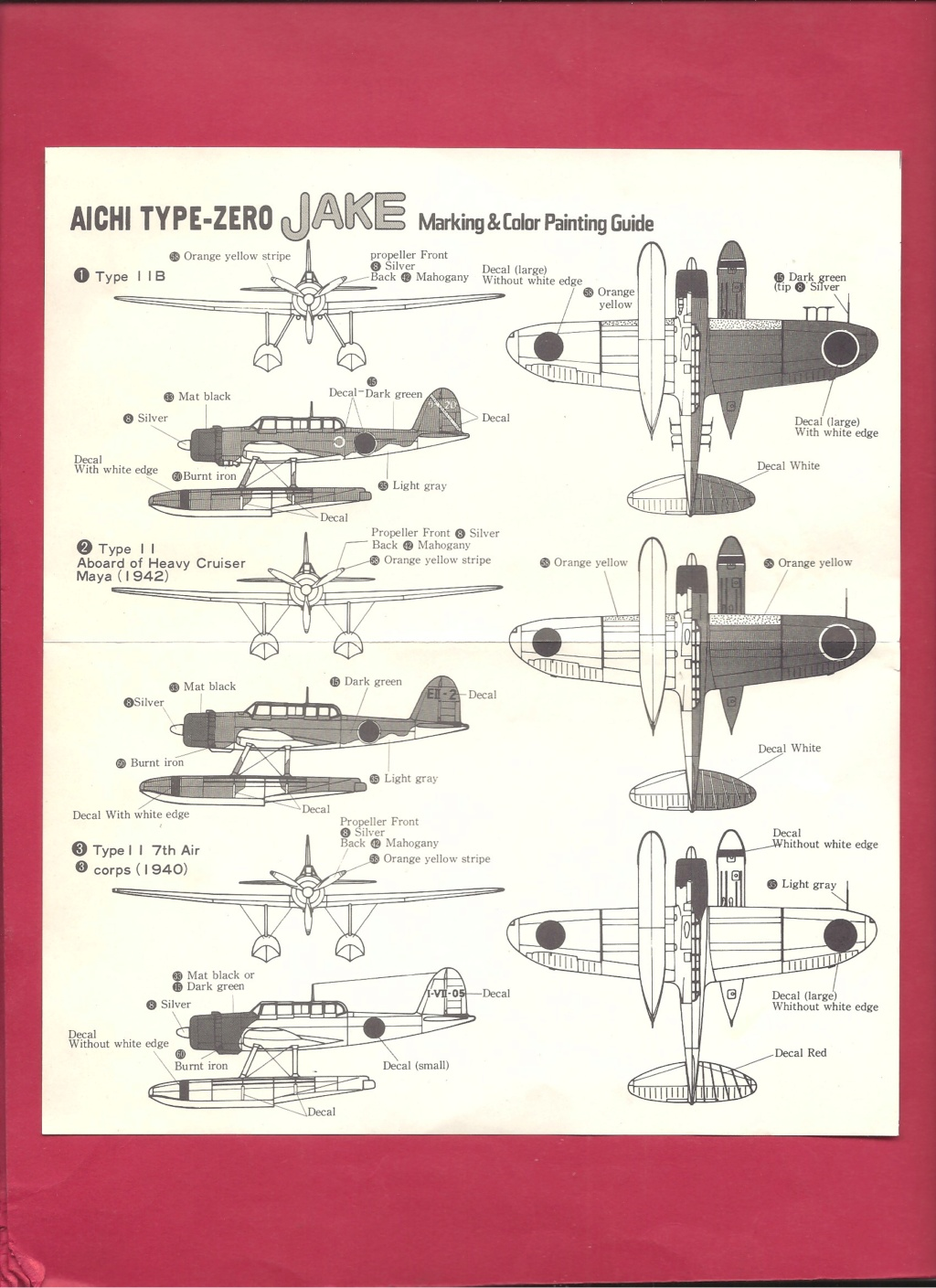 [HASEGAWA] AICHI EI3AI Type ZERO JAKE 1/72ème Réf D10 Hasega35
