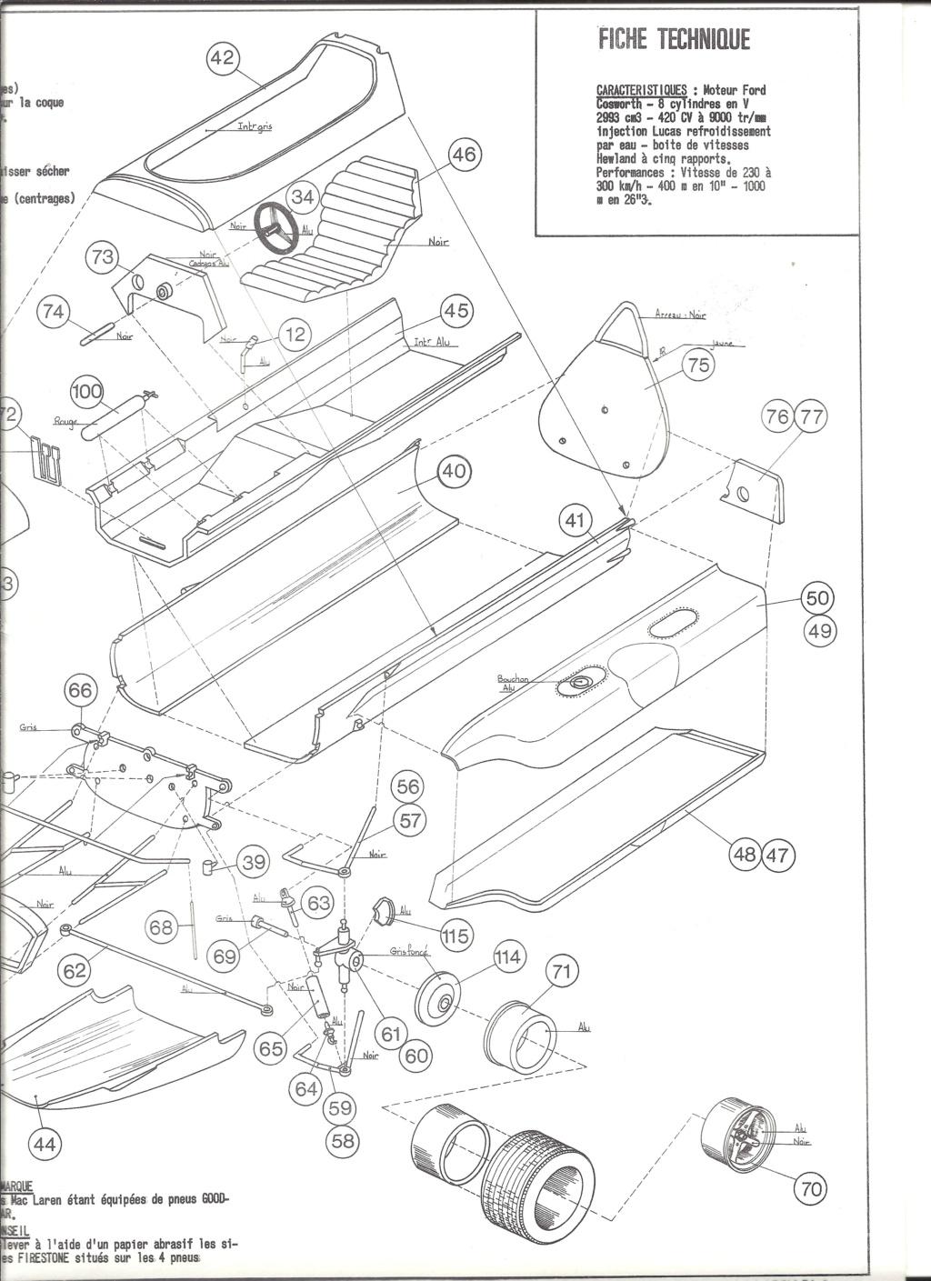 McLAREN M7A Formule I 1/24ème Réf L757 Notice Helle198