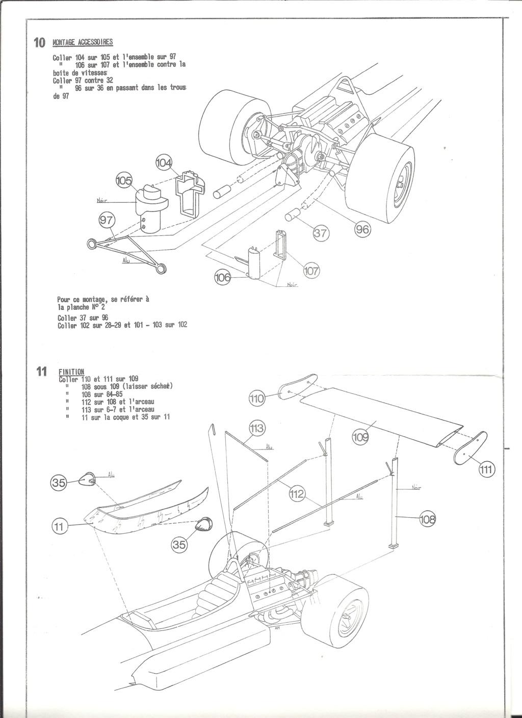 McLAREN M7A Formule I 1/24ème Réf L757 Notice Helle201