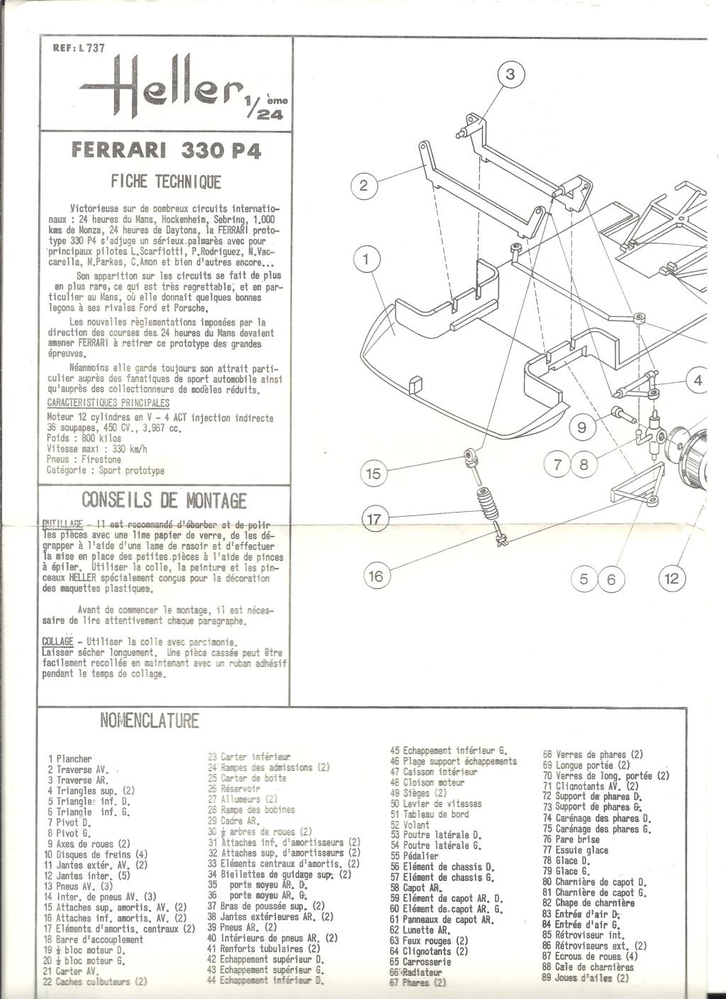 FERRARI 330 P4 Réf L737 1/24ème  Helle583
