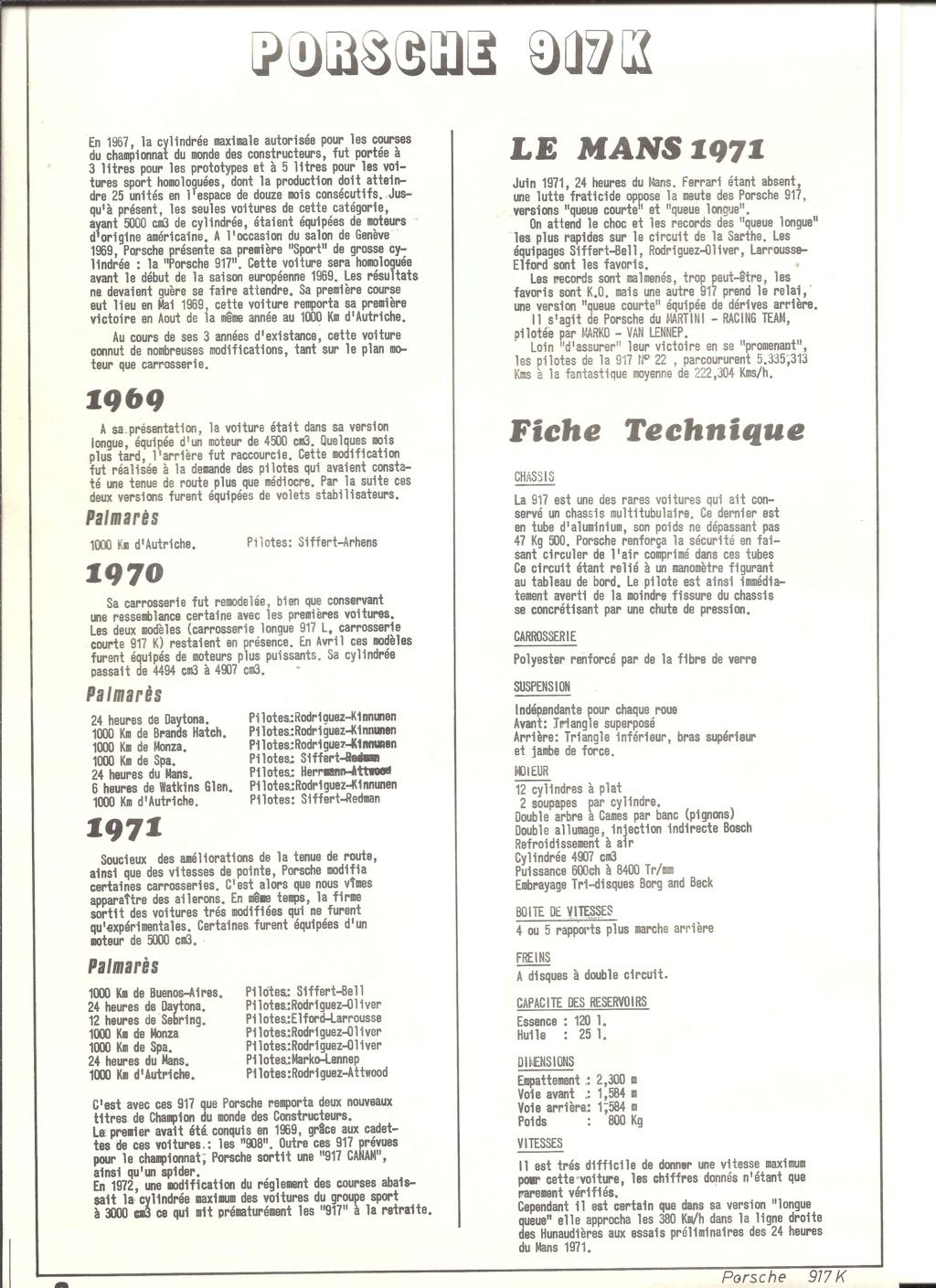 PORSCHE 917 K 1/24ème Réf L 742 Helle872