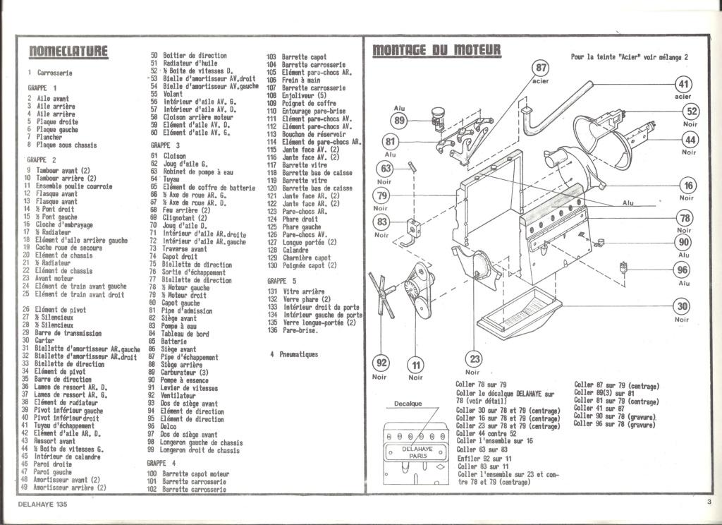 DELAHAYE 135 1/24ème Réf 707 Notice Helle913