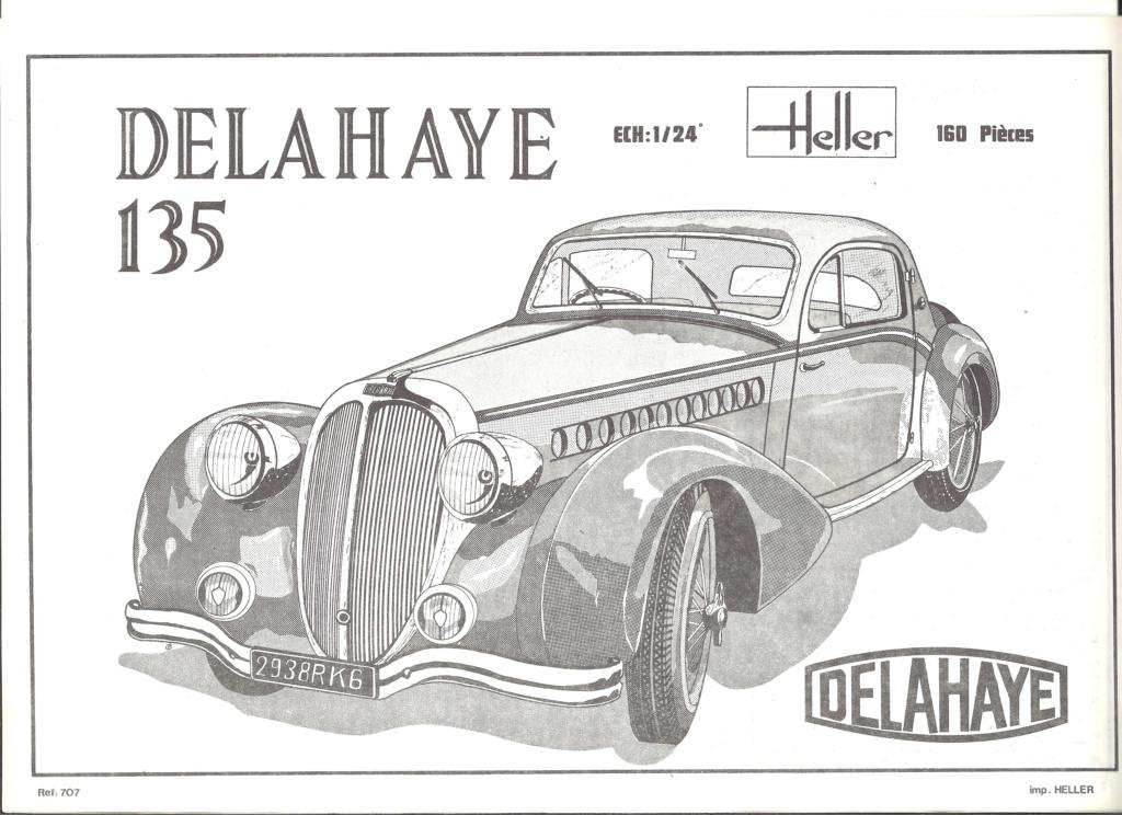 DELAHAYE 135 1/24ème Réf 707 Notice Helle915