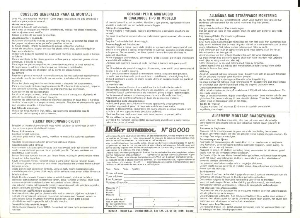 SNCASE SE 535 MISTRAL 1/72ème Réf 221 Notice Heller13