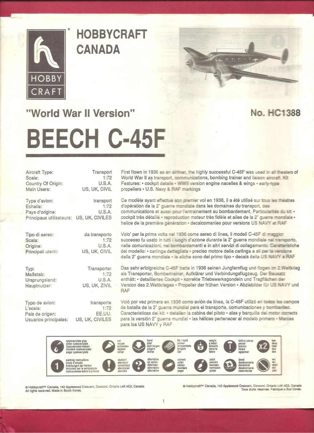 [HOBBYCRAFT] BEECH C 45 F 1/72ème Réf HC 1388 Hobbyc12