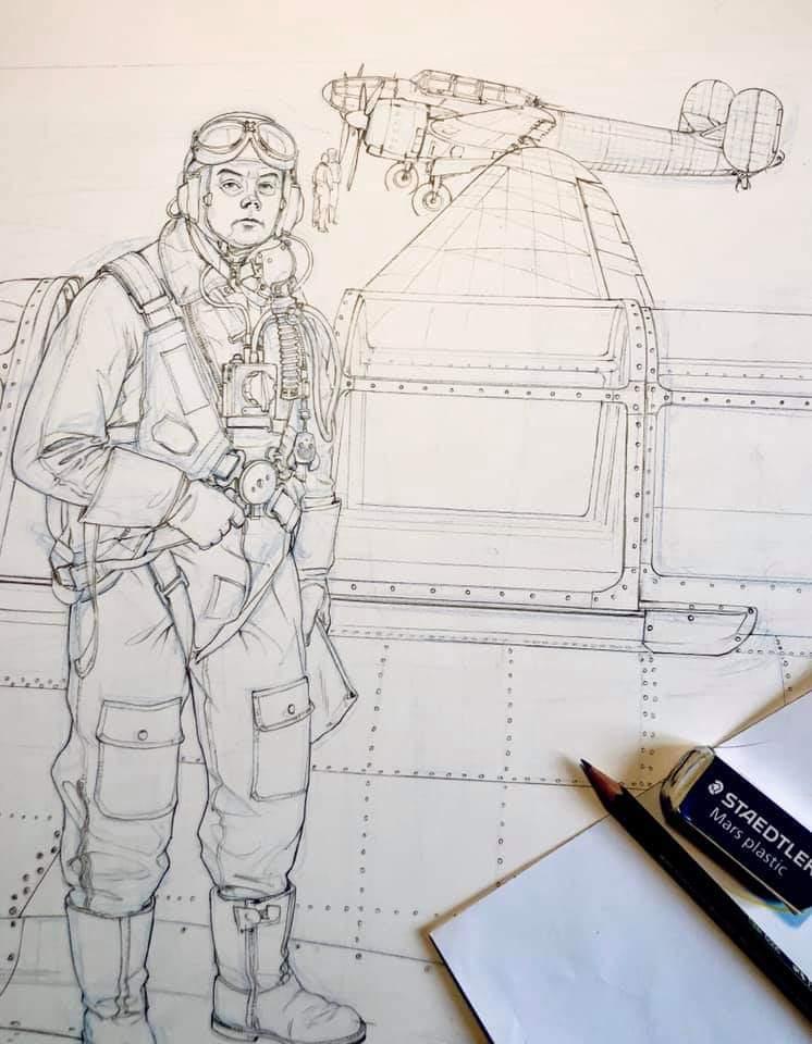 """Romain Hugault / Bernard Chabbert , Pilote de Guerre """" St Ex"""" Oct 2020  Fb_img24"""