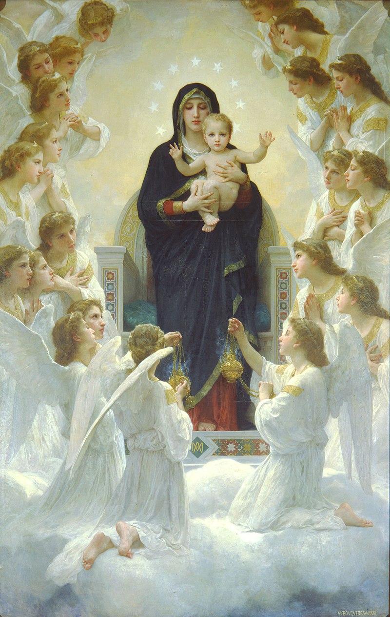 William Bouguereau La Vierge aux Anges 800px-10