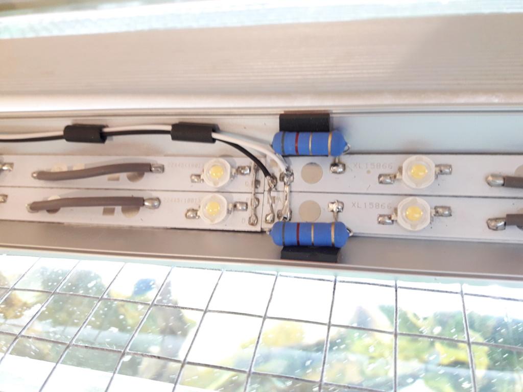 Réalisation rampe éclairage LED full spectrum. 20201111